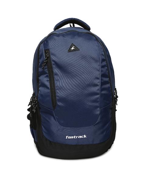 Fastrack Unisex Navy Blue Solid Backpack