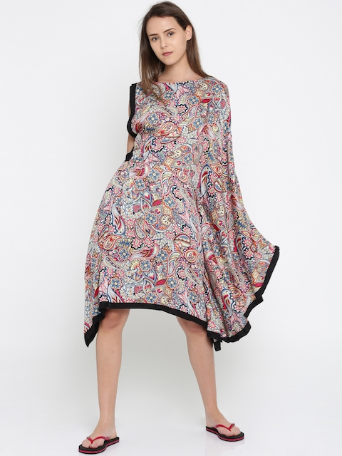 The Kaftan Company Multicoloured Cover-Up Dress DR_VS_ONESIDE03