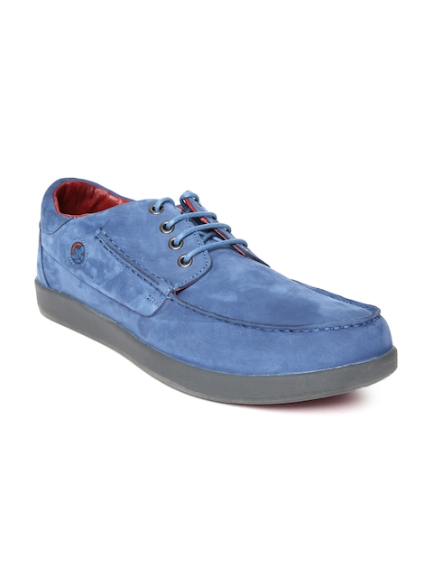 Woodland Men Blue Suede Derbys