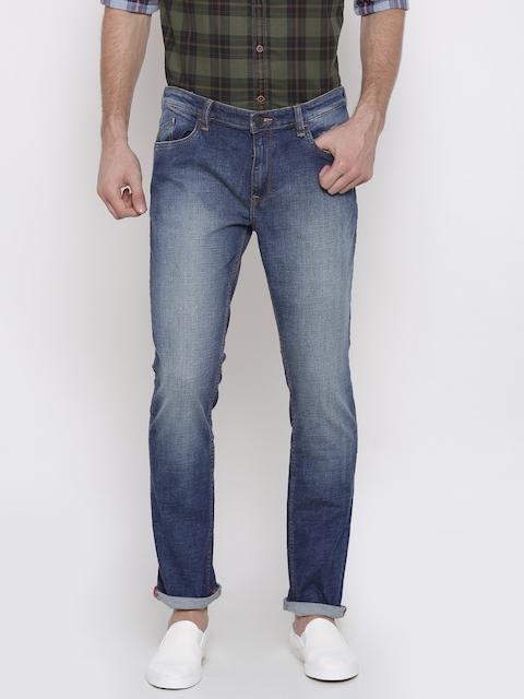 Arrow Blue Jean Co. Men Blue James Slim Fit Mid-Rise Clean Look Stretchable Jeans