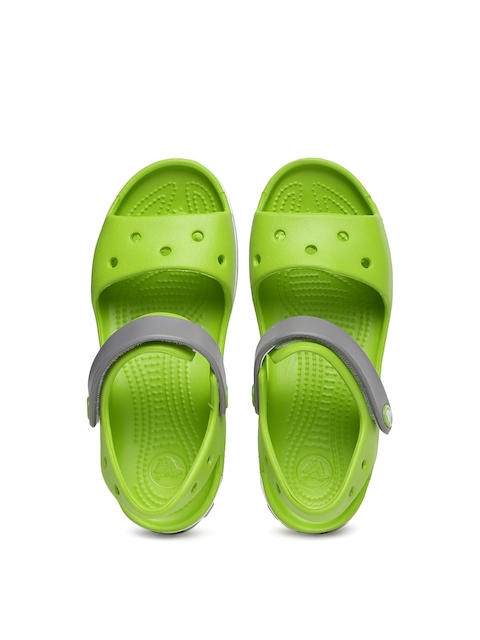 Crocs Unisex Green & Grey Colourblocked Clogs