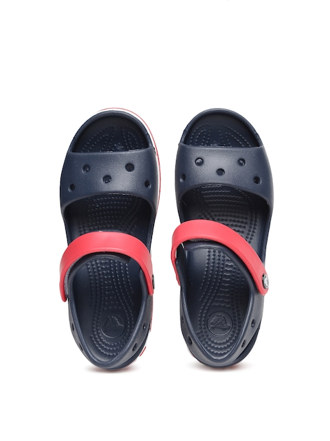 Crocs Unisex Navy Blue & Red Colourblocked Clogs
