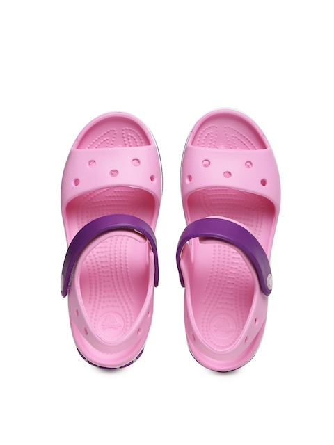 Crocs Unisex Pink & Purple Colourblocked Clogs