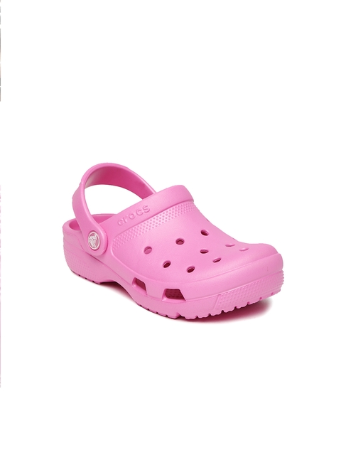 Crocs Unisex Pink Solid Coast Clogs
