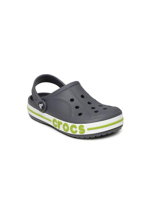 Crocs Unisex Grey Bayaband Solid Clogs