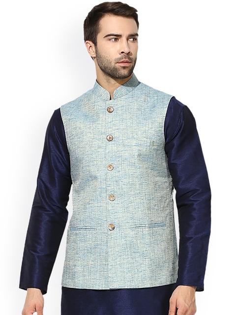 KISAH Blue Nehru Jacket