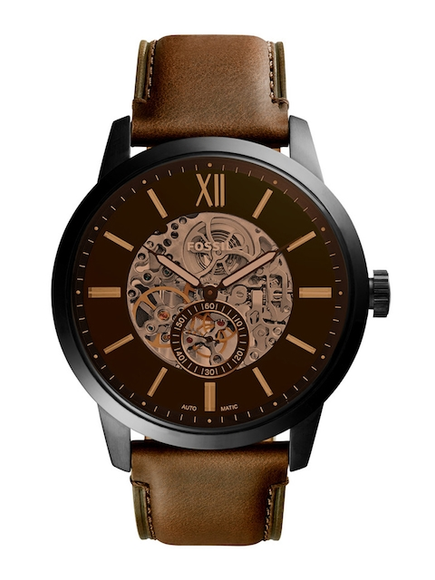 Fossil Men Brown & Black Analogue Watch