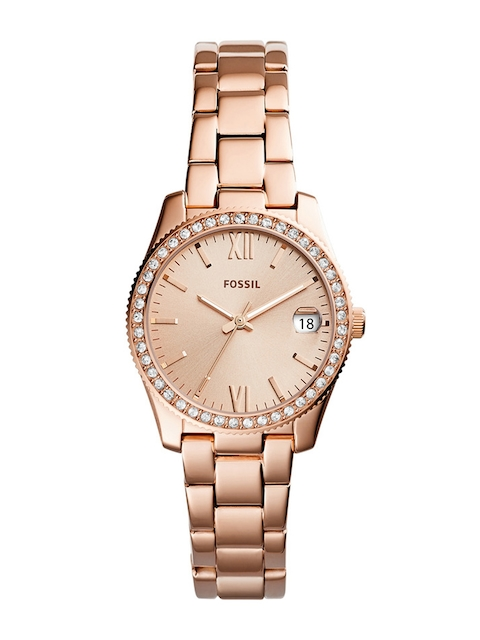 Fossil Women Gold-Toned Analogue Watch ES4318