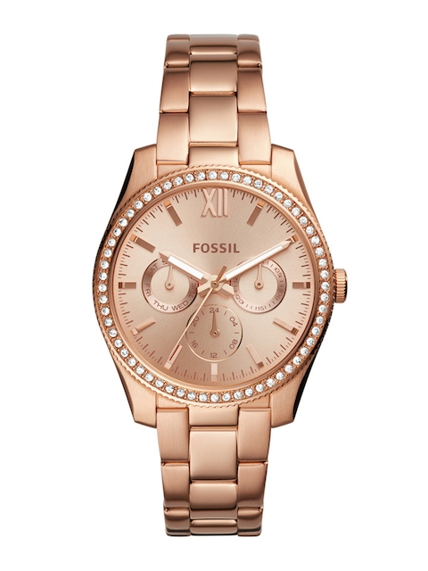 Fossil Women Gold-Toned Analogue Watch ES4315