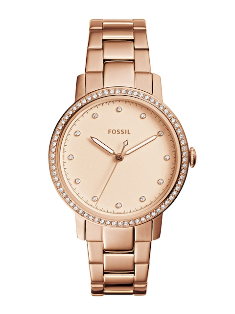 Fossil Women Gold-Toned Analogue Watch ES4288