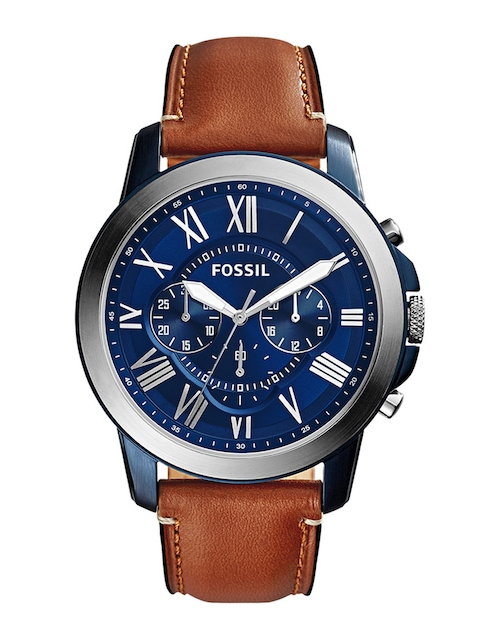 Fossil Men Blue & Brown Analogue Watch FS5151