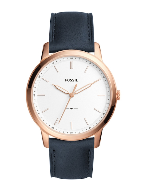 Fossil Men White & Black Analogue Watch