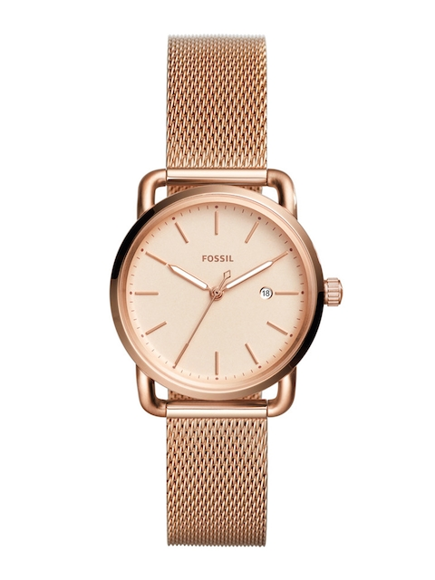 Fossil Women Peach-Coloured Analogue Watch ES4333