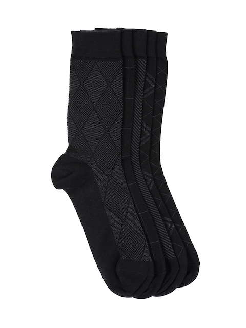 Tossido Men Set of 5 Checked Above Ankle-Length Socks