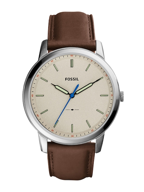 Fossil Men Beige Analogue Watch