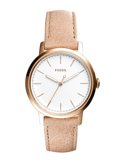 Fossil Women White & Brown Analogue Watch ES4185