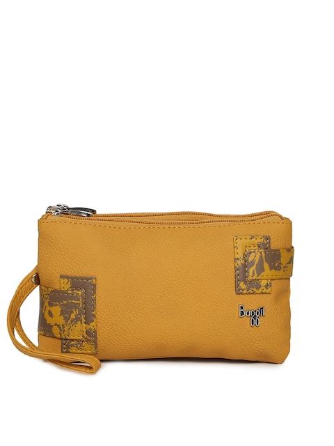 Baggit Women Mustard Yellow Mobile Pouch