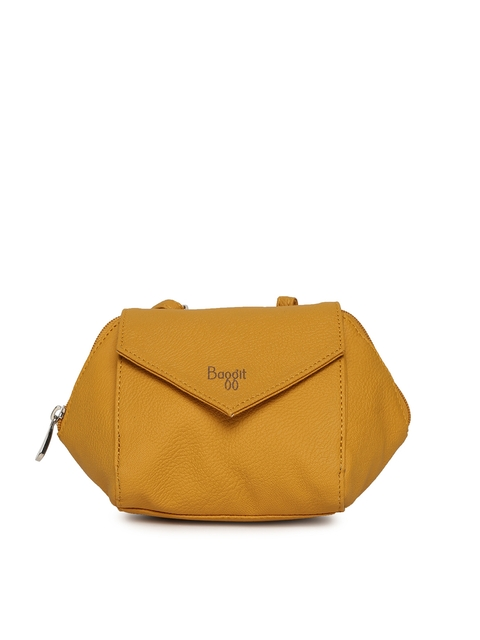 Baggit Women Mustard Yellow Mobile Pouch