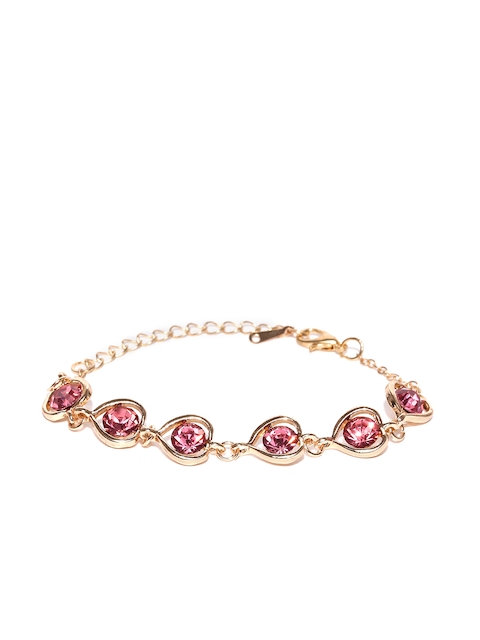 OOMPH Gold-Toned Metal Zirconia Charm Bracelet