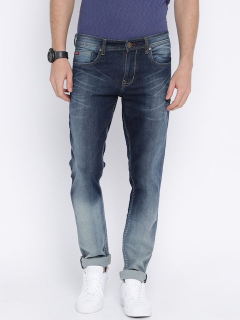 Lee Cooper Men Blue Slim Fit Low-Rise Clean Look Stretchable Jeans