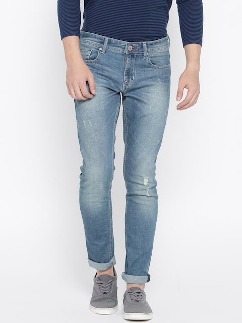 Lee Cooper Men Blue Low-Rise Low Distressed Stretchable Jeans