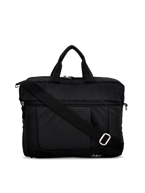 yelloe Unisex Black Solid Laptop Sleeve