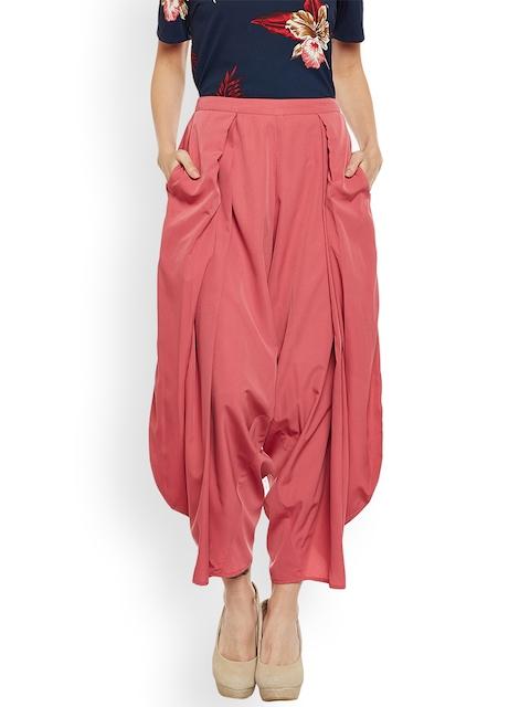 Popnetic Women Pink Relaxed Flared Solid Jodhpuris