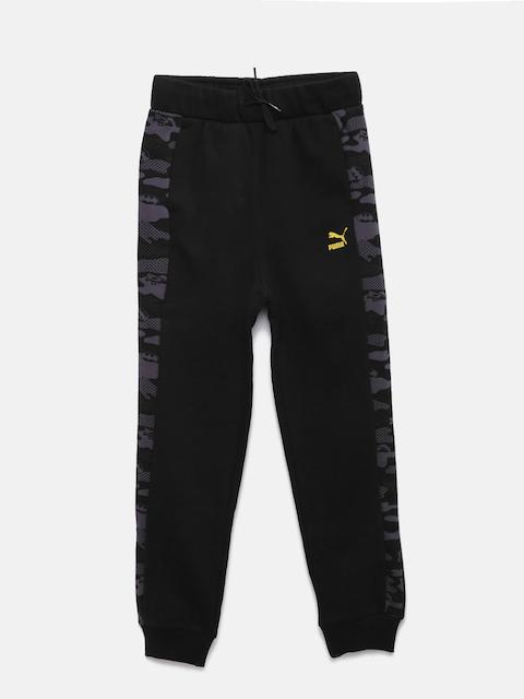 Puma Boys Black Justice League Printed Lounge Pants 592573011