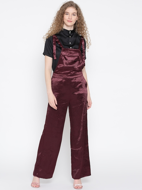 FOREVER 21 Burgundy Dungarees