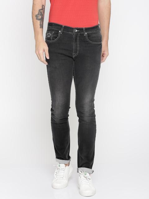 Pepe Jeans Men Black Slim Fit Low-Rise Clean Look Stretchable Jeans