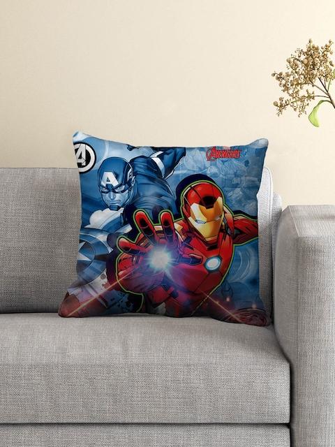 "Marvel Blue Printed 16"" x 16"" Square Cushion"