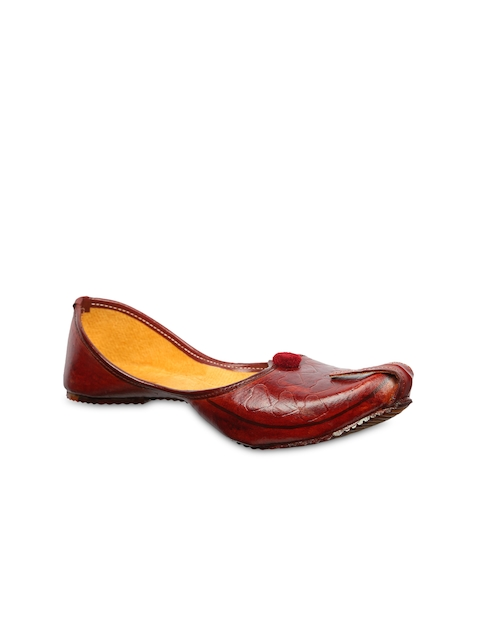 Ta Chic Women Brown Solid Synthetic Ballerinas