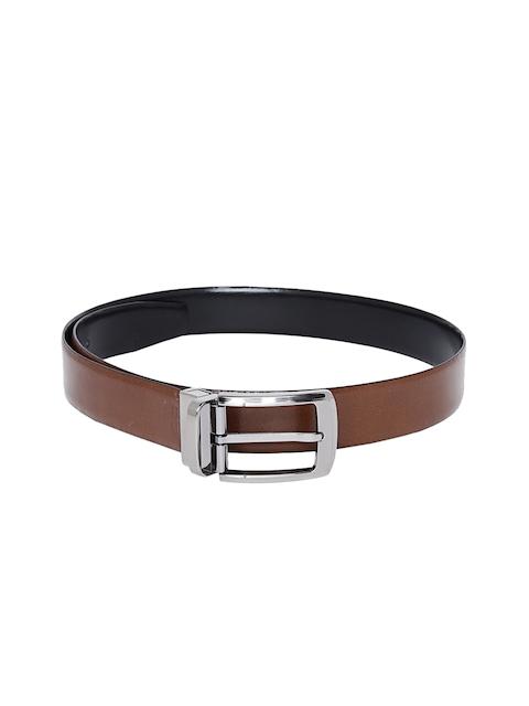 Alvaro Castagnino Men Brown & Black Reversible Belt