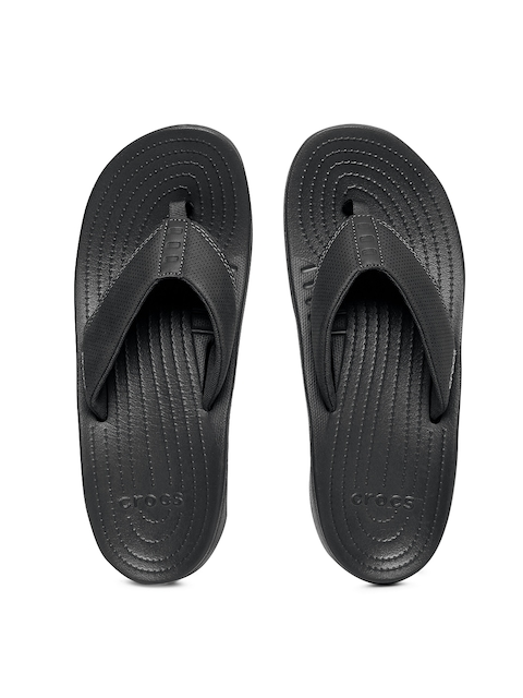 Crocs Men Black Bogota Solid Thong Flip-Flops