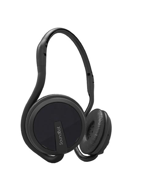 Soundbot Black Overear Wireless Headphones