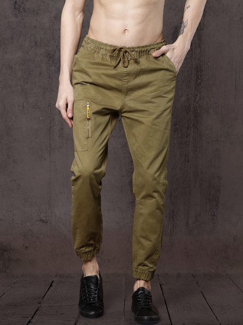Roadster Men Brown Regular Fit Solid Joggers