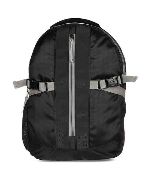 Impulse Unisex Black Colourblocked Backpack