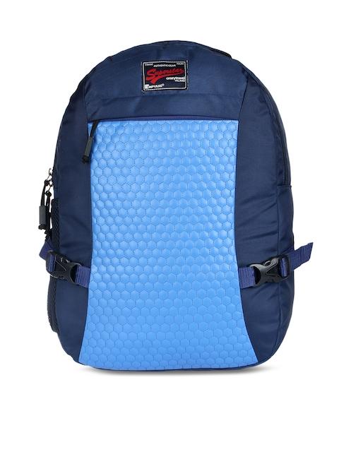 Impulse Unisex Blue & Navy Blue Textured Backpack
