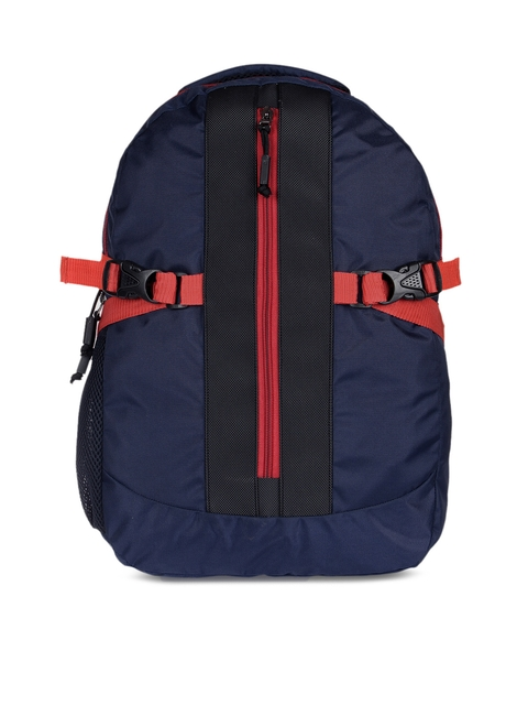 Impulse Unisex Blue Colourblocked Backpack