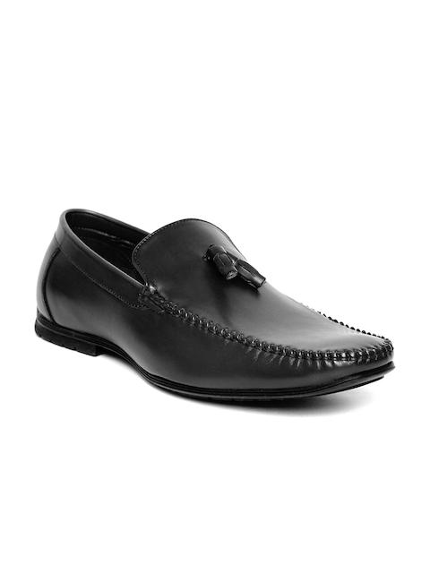 San Frissco Men Black Tasselled Loafers