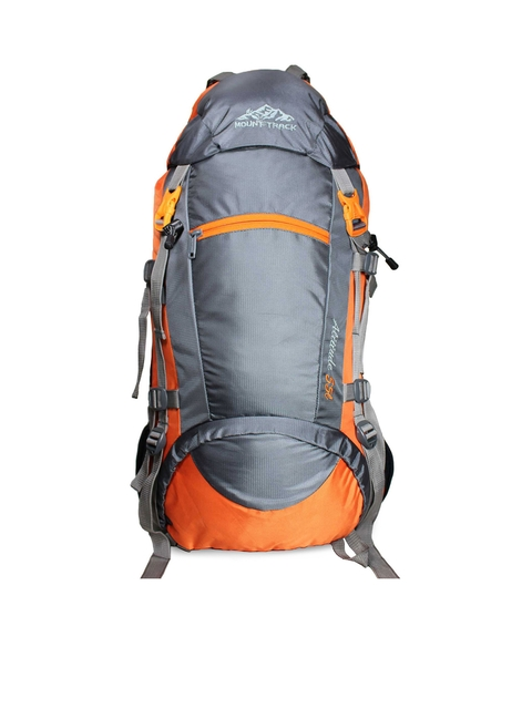 MOUNT TRACK Unisex Orange & Grey Rucksack