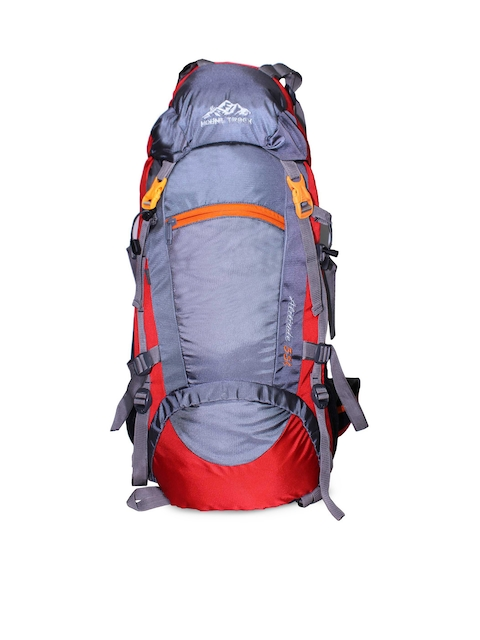 MOUNT TRACK Unisex Red & Grey Rucksack