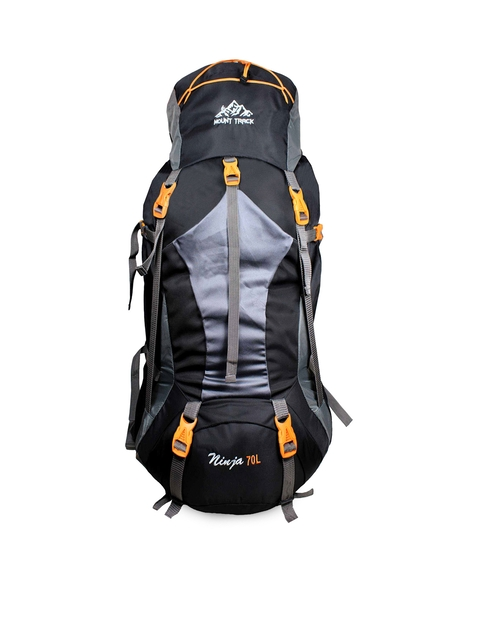 MOUNT TRACK Unisex Black & Grey Rucksack