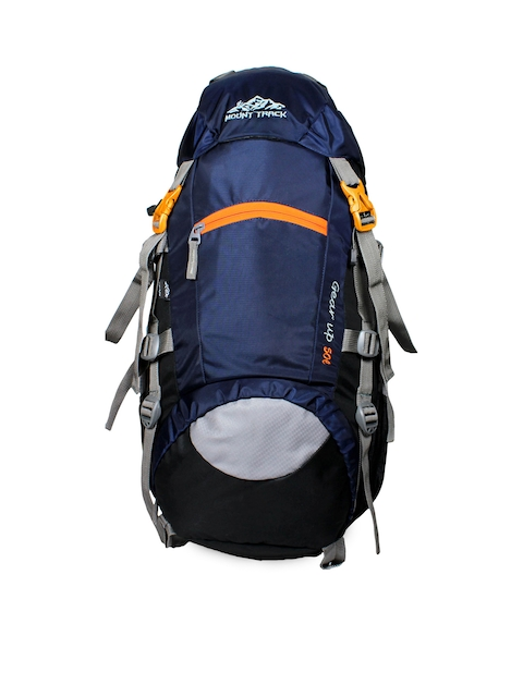 MOUNT TRACK Unisex Blue & Grey Medium Rucksack