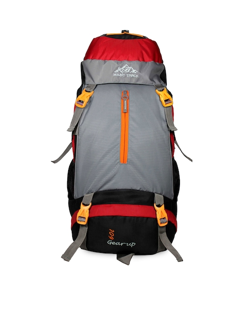 MOUNT TRACK Unisex Red & Grey Medium Rucksack