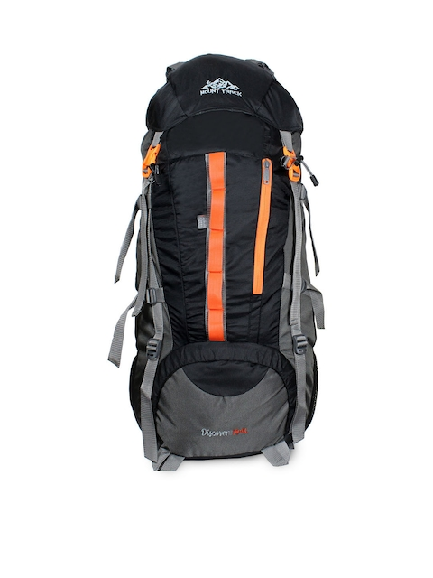 MOUNT TRACK Unisex Black & Grey Large Rucksack