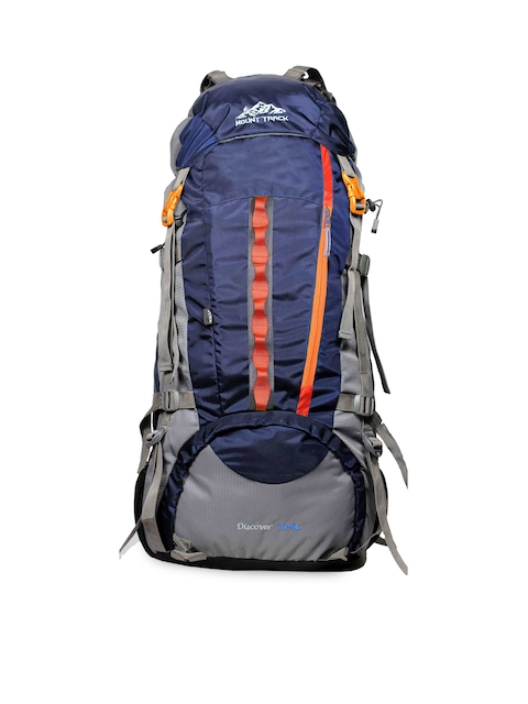 MOUNT TRACK Unisex Blue & Grey Large Rucksack