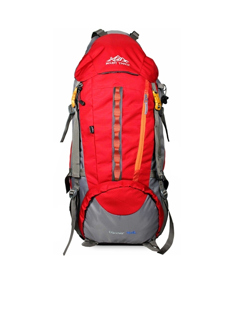 MOUNT TRACK Unisex Red & Grey Large Rucksack
