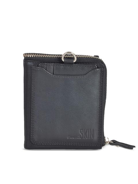 Second SKIN Men Black Solid Two Fold Wallet
