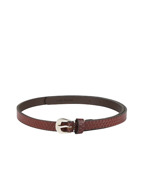 Aditi Wasan Women Brown Solid Belt